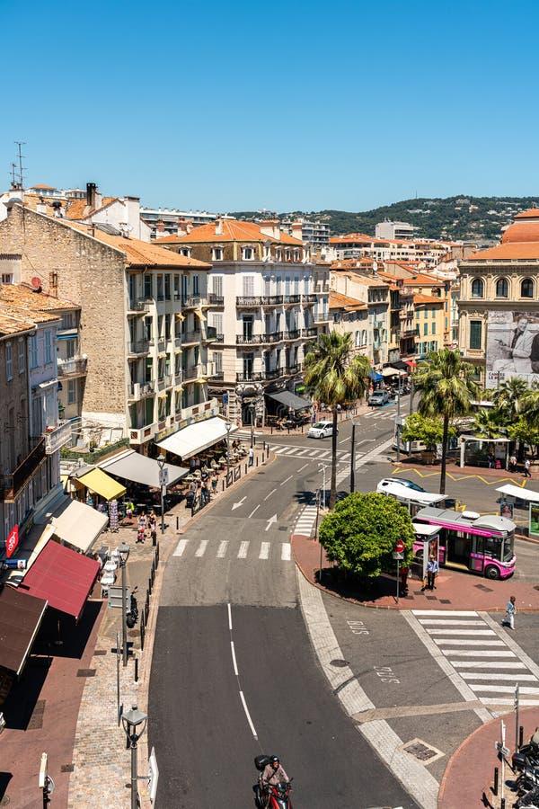 Vista Aérea Del Centro De Cannes imagen de archivo libre de regalías