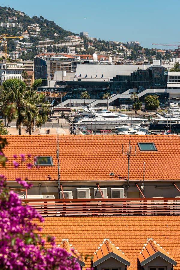 Vista Aérea Del Centro De Cannes fotografía de archivo libre de regalías