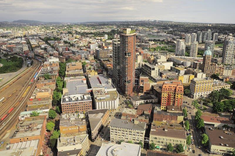 Vista aérea del centro de Vancouver imagenes de archivo
