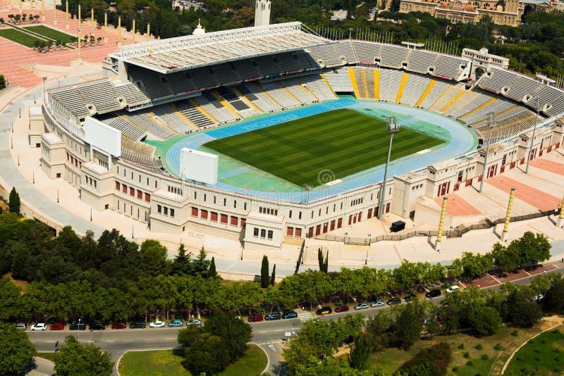 Download Vista Aérea Del Estadio De Olimpic De Barcelona España Foto de archivo - Imagen de edificio, configuración: 44852036