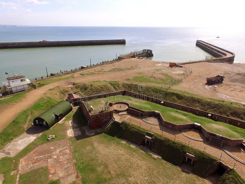 Vista aérea del fuerte de Shoreham foto de archivo