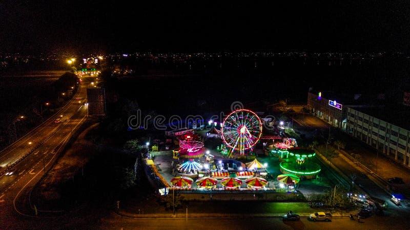 Vista aérea del funfair en Malasia fotos de archivo libres de regalías