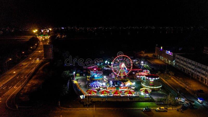 Vista aérea del funfair en Malasia imagen de archivo libre de regalías