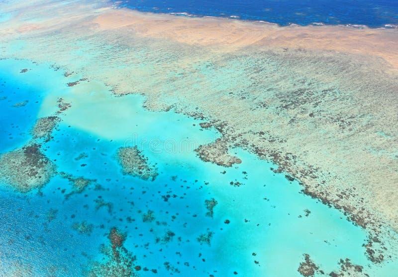 Vista aérea del gran filón de barrera foto de archivo