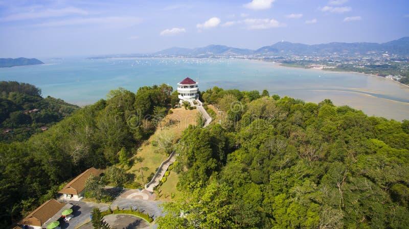 Vista aérea del khad phuket Tailandia del khao foto de archivo
