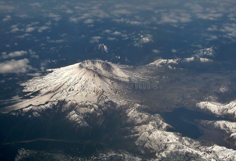 Vista aérea del Monte Saint Helens, Washington EE.UU. imagenes de archivo
