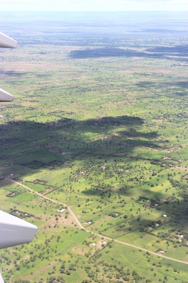 Vista aérea del paisaje de Tanzania fotografía de archivo libre de regalías