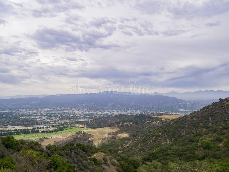 Vista aérea del paisaje urbano de Burbank fotografía de archivo