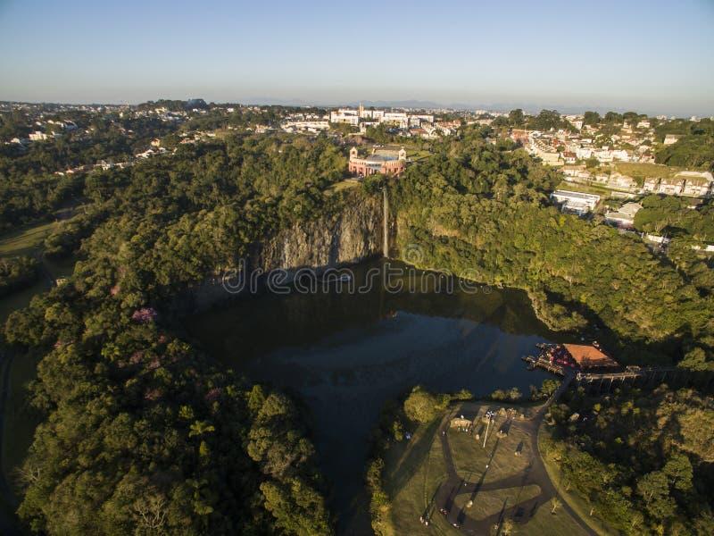 Vista aérea del parque de Tangua CURITIBA, PARANA/BRAZIL En julio de 2017 foto de archivo libre de regalías