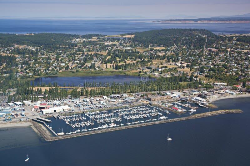 Vista aérea del puerto Townsend imagenes de archivo