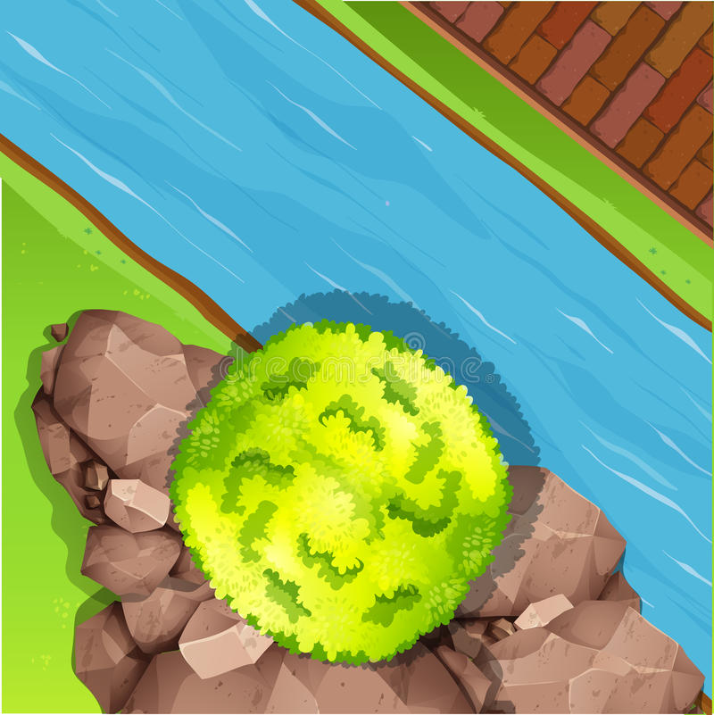 Vista aérea del río libre illustration