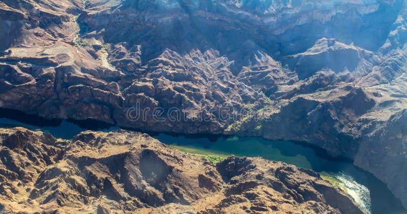 Vista aérea del río Colorado, los E.E.U.U. fotografía de archivo libre de regalías