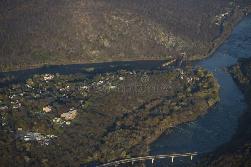 Vista aérea del transbordador de Harper foto de archivo