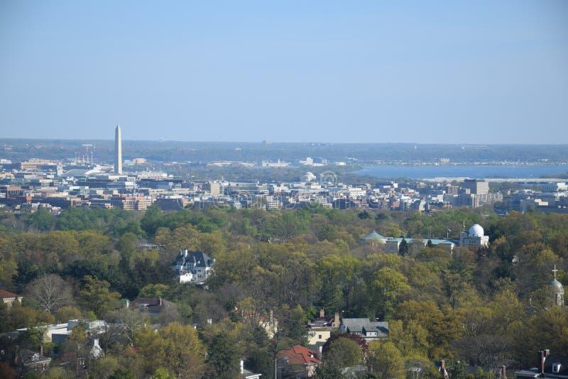 Vista aérea del Washington DC imagen de archivo