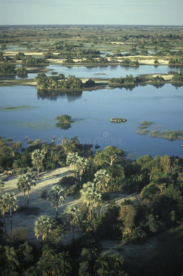 Vista aérea, delta de Okavango, Botswana fotos de stock