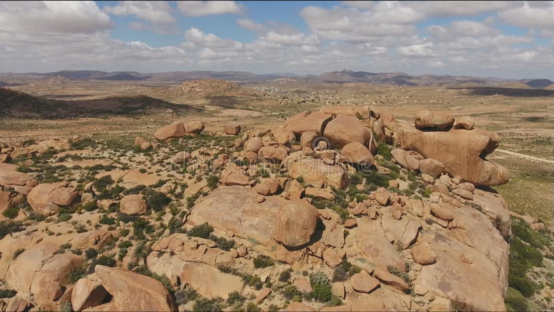 Vista aérea do afloramento do granito - África do Sul vídeos de arquivo