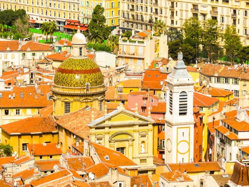 Vista aérea do agradável, França fotos de stock
