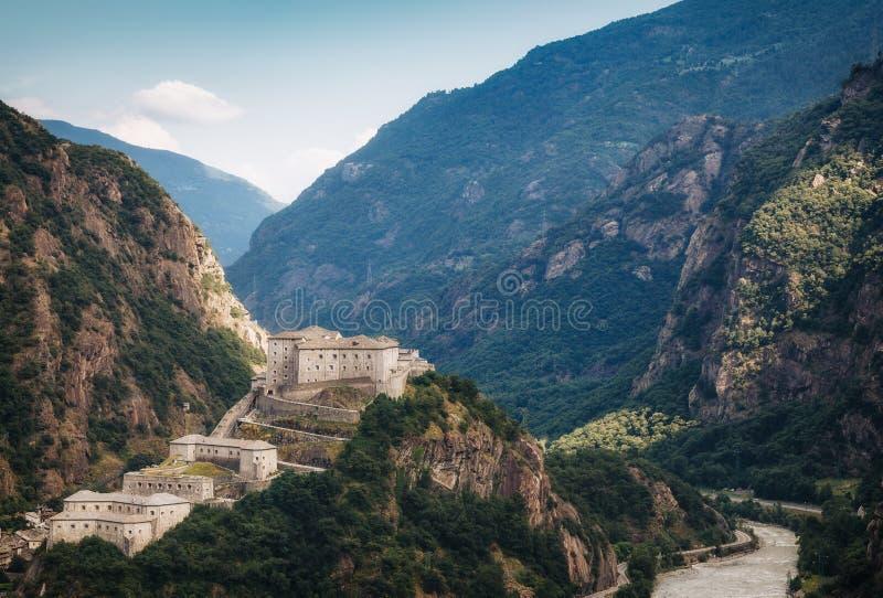 Vista aérea do castelo do bardo foto de stock