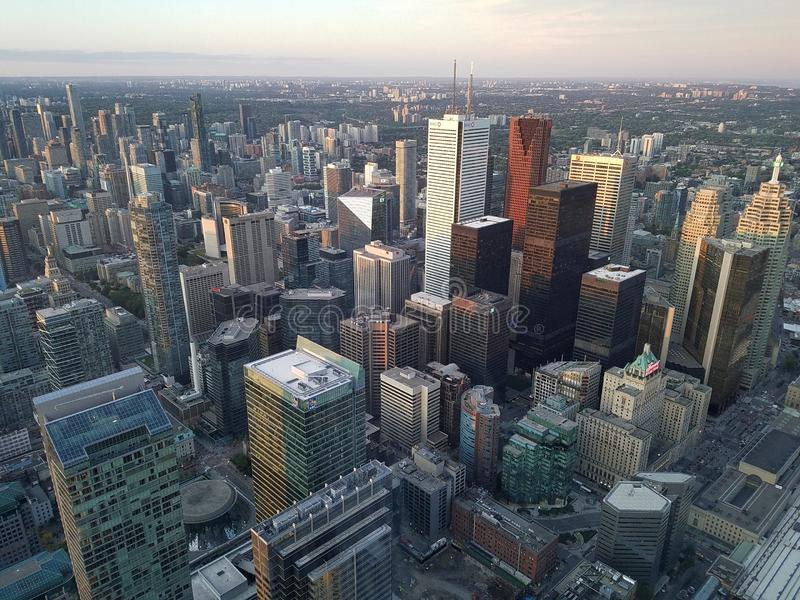Vista aérea do centro de Toronto, Ontário, Canadá fotos de stock