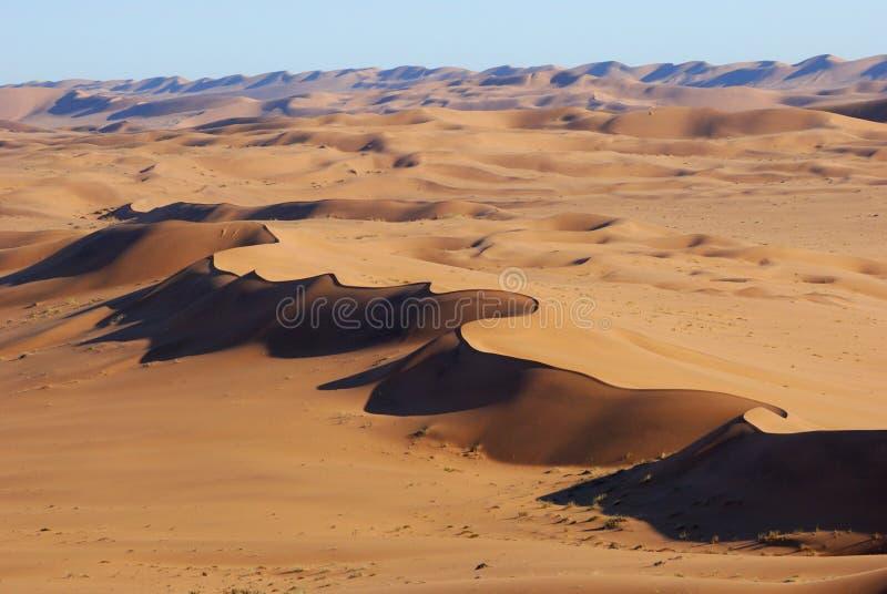 Vista aérea do deserto de Namib imagens de stock royalty free