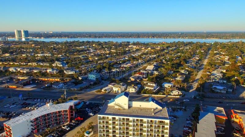 Vista aérea do forte Walton Beach, Florida foto de stock