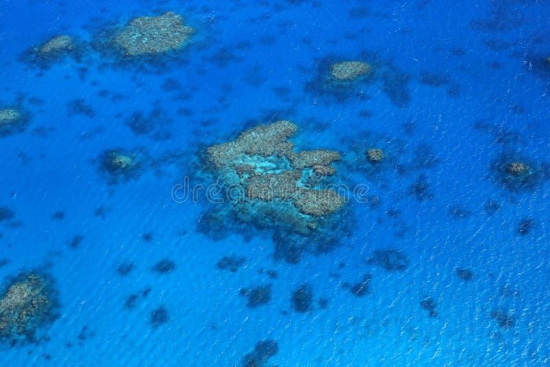 Vista aérea do grande recife de barreira foto de stock royalty free