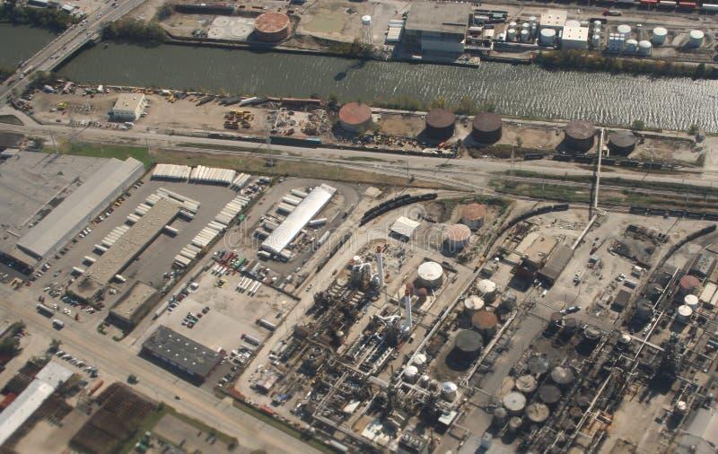 Vista aérea do local industrial imagem de stock royalty free