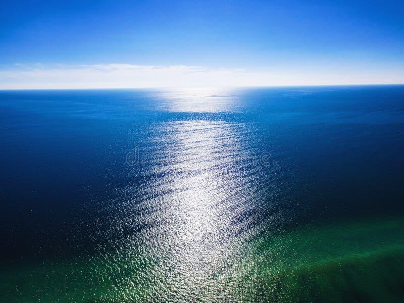 Vista aérea do mar do Golfo do México imagens de stock royalty free