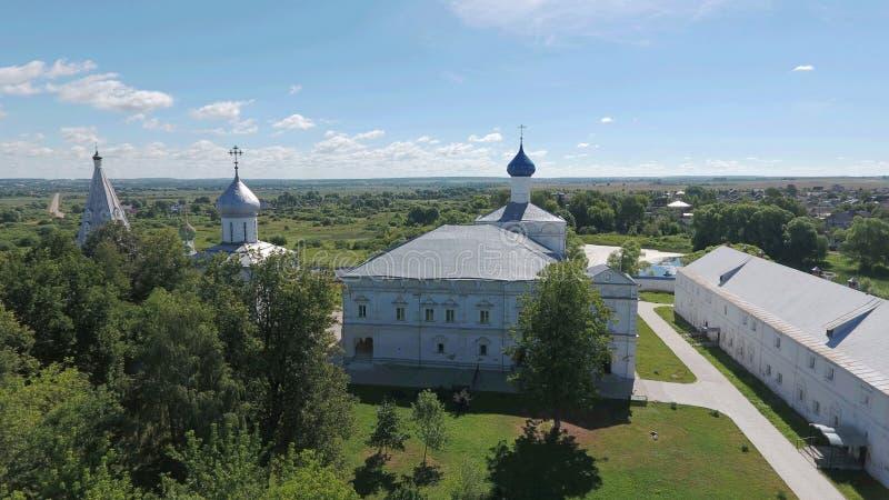 Vista aérea do monastério santamente dos homens de Trindade-Danilov em Pereslavl- fotografia de stock royalty free