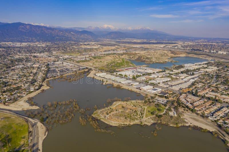 Vista aérea do parque bonito da estrada da beijoca foto de stock royalty free