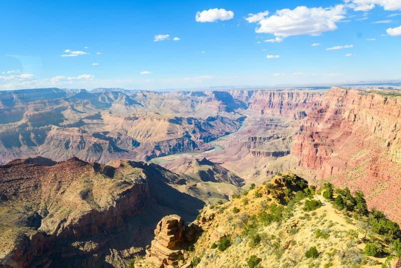 Vista aérea do parque nacional do Grand Canyon, o Arizona fotos de stock