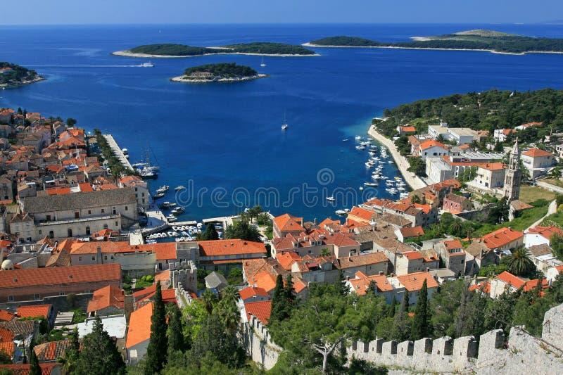 Vista aérea do porto foto de stock
