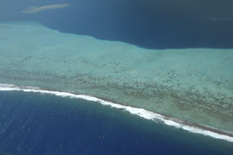 Vista aérea do recife coral imagens de stock