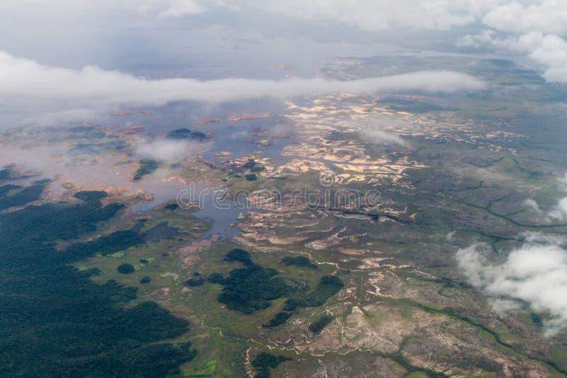 Vista aérea do reservatório de Guri imagem de stock royalty free