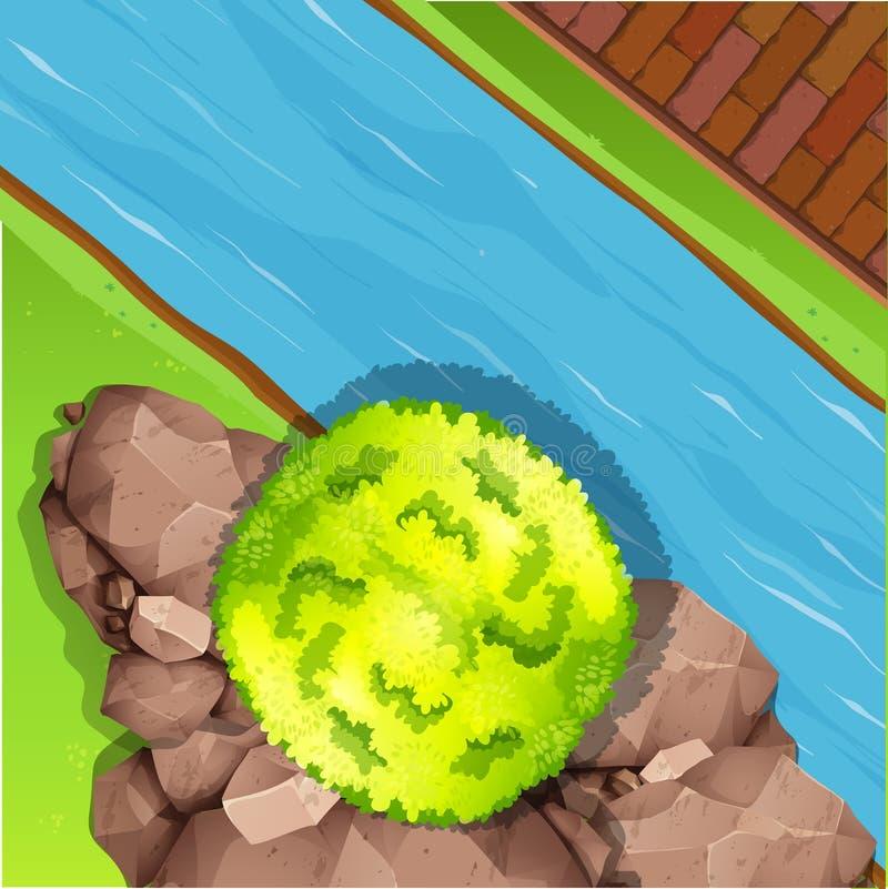 Vista aérea do rio ilustração royalty free