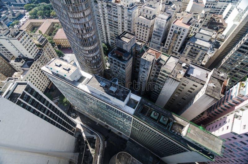 Vista aérea do Sao Paulo City do centro imagem de stock