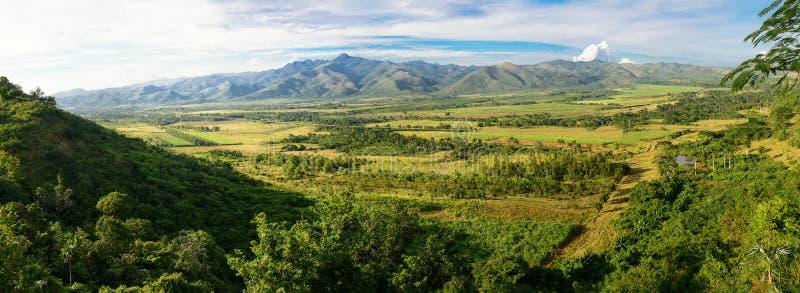 Vista aérea do Valle de los Ingenios perto de Trinidad fotografia de stock