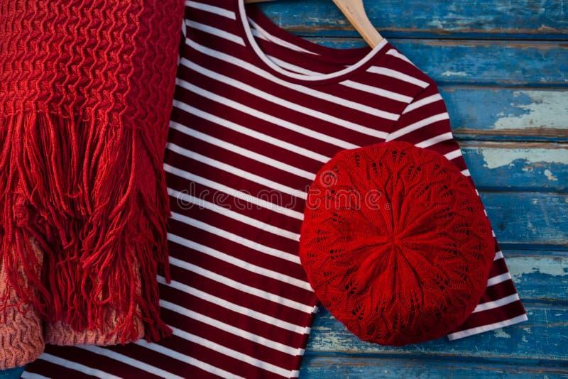 Vista aérea do womenswear fotografia de stock