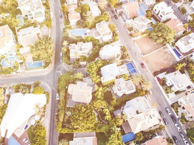 A vista aérea do zangão disparou de Rishon LeZion, Israel foto de stock royalty free