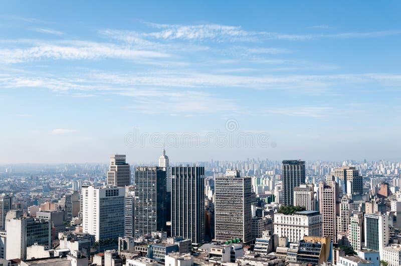 Vista aérea dos edifícios em Sao Paulo. imagens de stock
