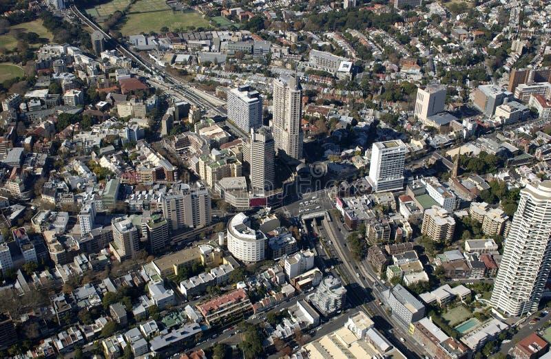 Vista aérea dos subúrbios de Sydney imagem de stock royalty free