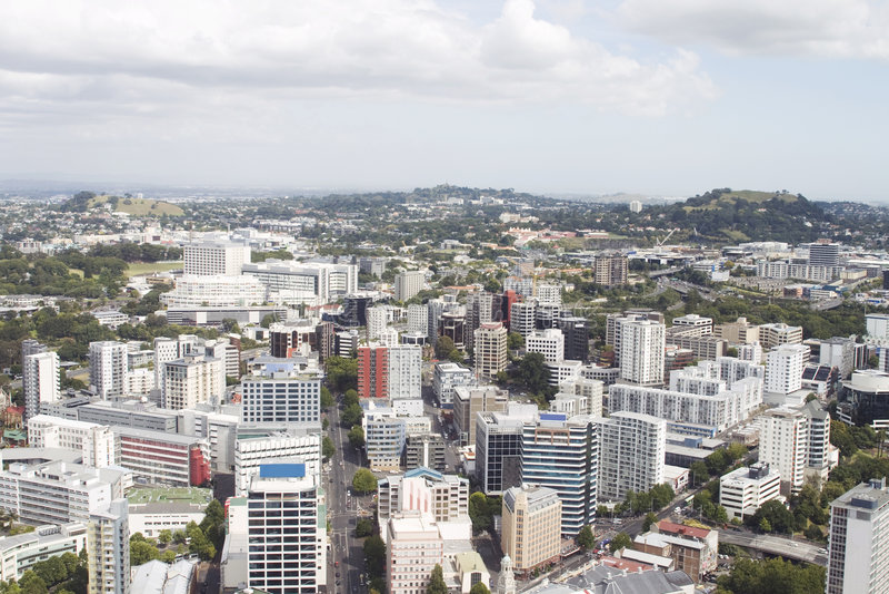 Vista aérea em Auckland imagem de stock