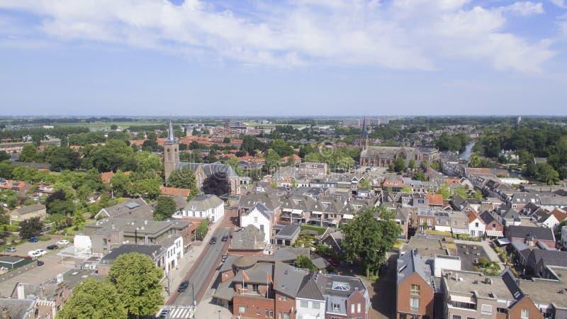 Vista aérea em Breukelen fotografia de stock royalty free