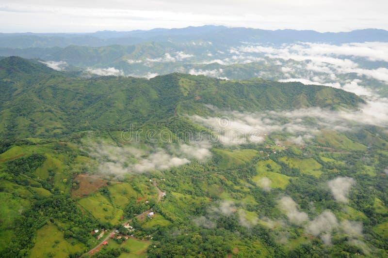 Vista aérea em Costa-Rica imagem de stock royalty free