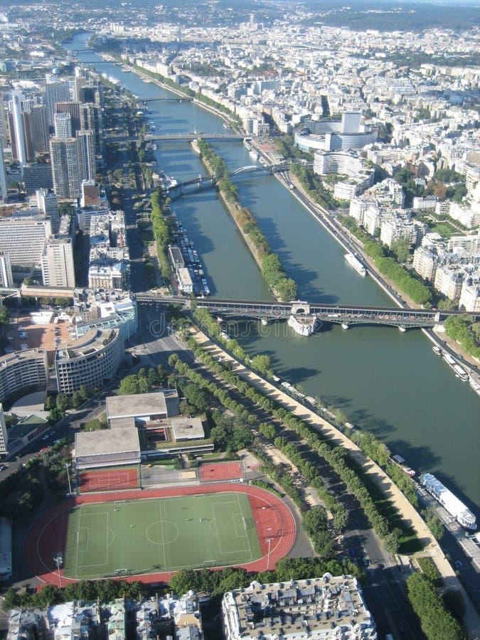 Vista aérea em Paris foto de stock royalty free