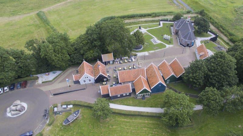 Vista aérea em Schokland imagens de stock