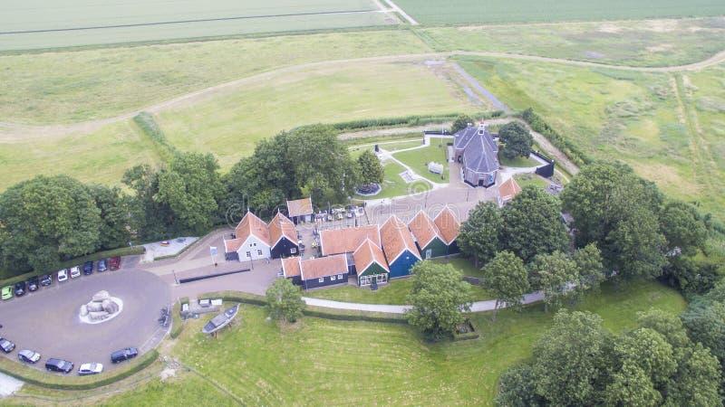 Vista aérea em Schokland fotos de stock