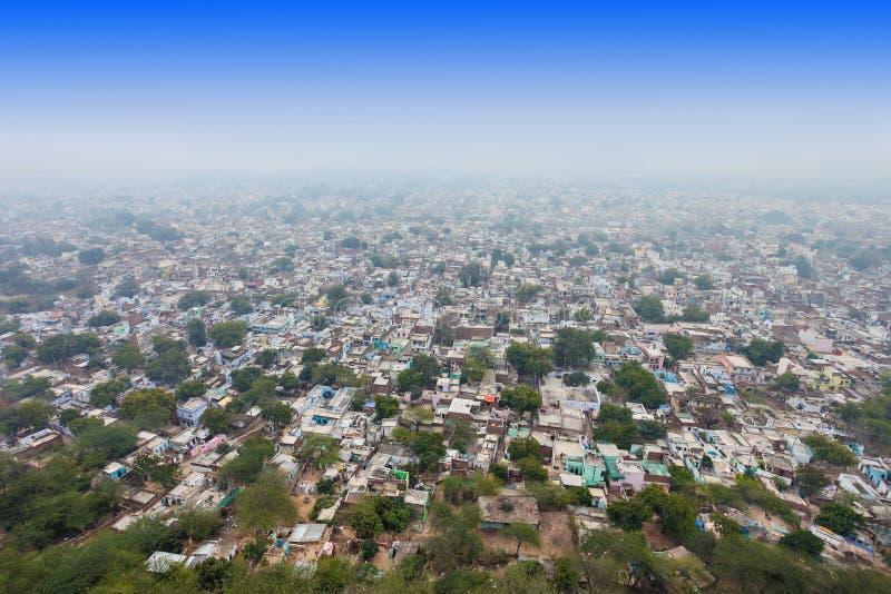Vista aérea, Gwalior imagens de stock