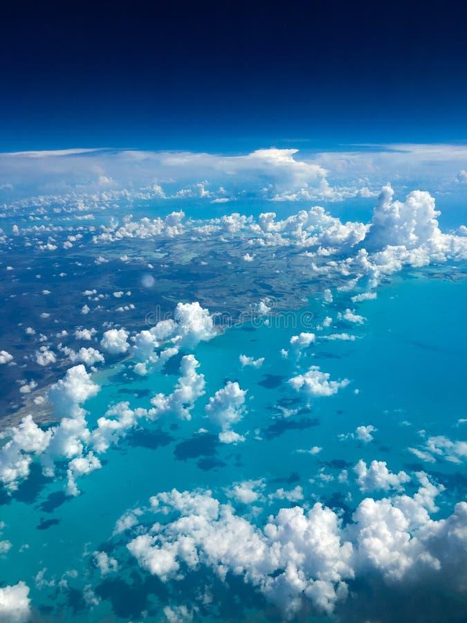 Vista aérea hermosa de las islas de Bahamas fotos de archivo