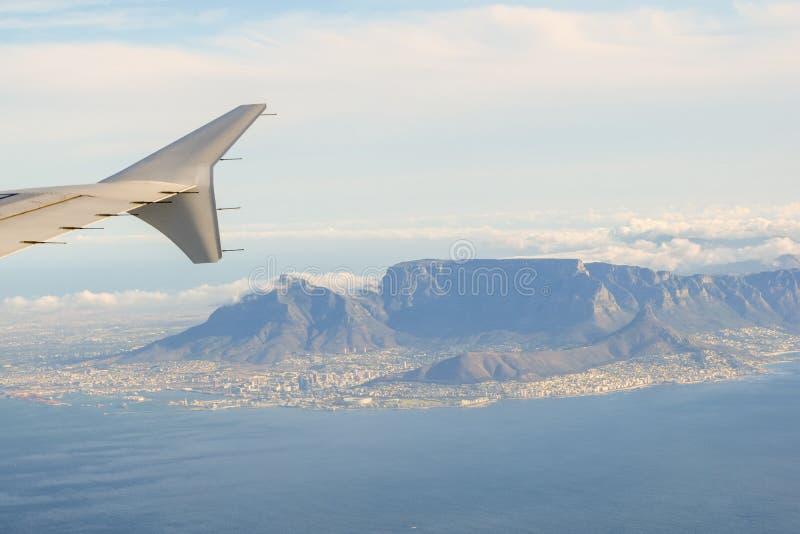 Vista aérea imponente de Cape Town, Suráfrica foto de archivo